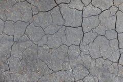 破裂的地面纹理 免版税库存照片