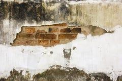 破裂的坏的墙壁 免版税库存照片
