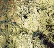 破裂的岩石结构背景与干草的 免版税库存图片