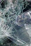 破裂的挡风玻璃 库存图片
