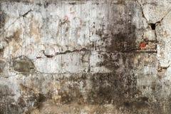 破裂的混凝土墙纹理背景 库存照片