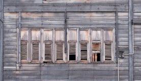 破裂的窗玻璃 免版税库存照片