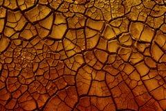 破裂的红土。 免版税库存图片