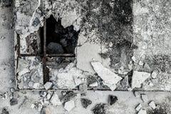 破裂的老水泥织地不很细背景 图库摄影