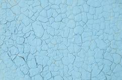 破裂的蓝色油漆纹理  免版税库存照片