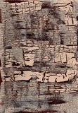 破裂的被绘的表面纹理 库存图片