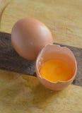 破裂的鸡蛋 库存图片