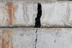 破裂的水泥飞机 免版税图库摄影