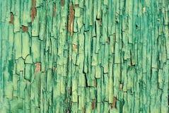 破裂的绿色油漆背景特写镜头 图库摄影