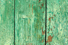 破裂的绿色油漆背景 库存照片
