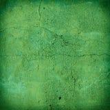 破裂的绿色混凝土墙纹理 免版税库存图片