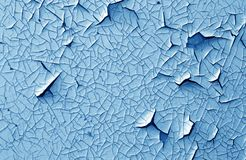 裂缝和损伤在被绘的纹理在藏青色口气 免版税库存照片