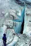 裂隙冰川worthington 库存图片