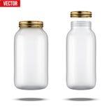 装于罐中和保存的玻璃瓶子 库存例证