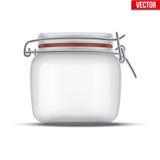 装于罐中和保存的玻璃瓶子 向量例证