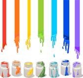 装例证油漆向量于罐中 免版税库存照片