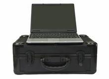 装入防护计算机的膝上型计算机 图库摄影