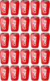 装可乐于罐中 免版税图库摄影