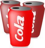 装可乐于罐中 库存图片