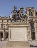 装扮马尔库斯Curtius cople的路易斯14;在Th的雕塑 库存照片