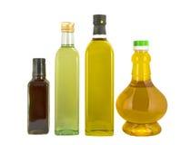 装瓶不同的油排序 图库摄影
