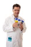 装瓶化学制品化学家藏品实验室 免版税库存照片