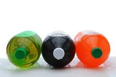 装瓶大端碳酸钠他们三 免版税库存照片