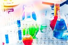 装瓶小化学空的设备 免版税图库摄影