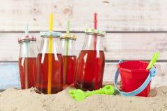 装瓶柠檬水 免版税库存照片