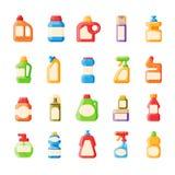 装瓶模板空白的包裹容器收藏平的传染媒介例证 向量例证