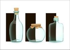 装瓶浅中央dof重点的玻璃 免版税图库摄影