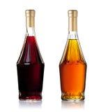 装瓶白兰地酒 库存照片
