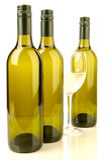 装瓶白葡萄酒 库存图片