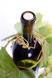 装瓶白葡萄酒 库存照片