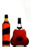 装瓶科涅克白兰地威士忌酒 库存照片