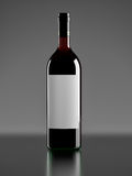 装瓶红葡萄酒 免版税库存图片