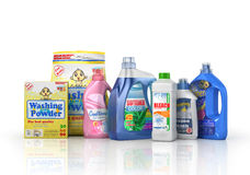 装瓶洗涤剂塑料 库存例证