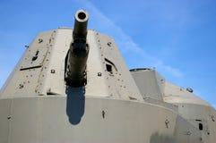 装甲列车大炮 库存照片