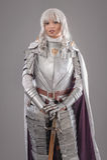 装甲女性骑士发光 免版税图库摄影