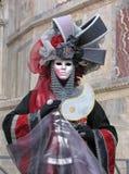 装甲狂欢节屏蔽威尼斯 库存照片