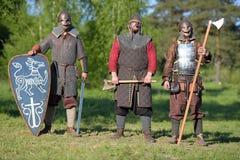 装甲的三个骑士 免版税库存照片