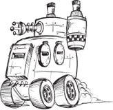 装甲的卡车剪影 库存图片