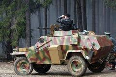 装甲的德国通信工具 免版税库存图片