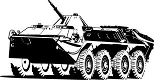 装甲的承运人队伍 免版税库存图片
