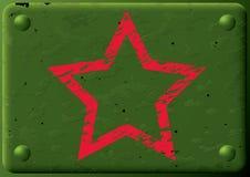装甲的背景牌照星形 库存照片