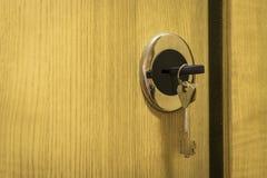 装甲的门锁 免版税图库摄影