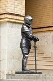 装甲的骑士有剑的。 免版税库存照片