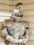 装甲盔甲中世纪金属秸杆诉讼 库存照片