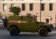 装甲车GAZ-2330老虎反坦克导弹复合体Kornet 库存图片