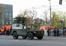 装甲车GAZ-2330老虎反坦克导弹复合体Kornet 免版税图库摄影